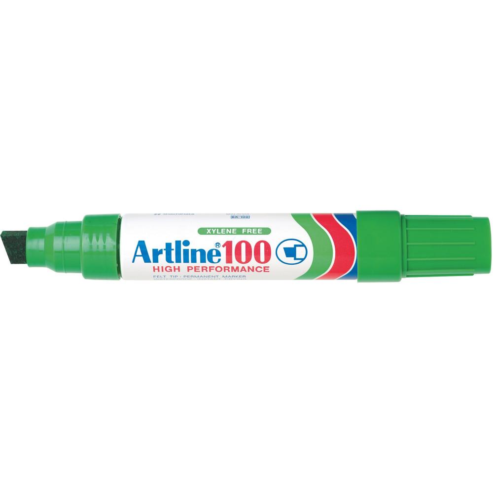 Artline 100 Jumbo Permanent Marker Chisel 12mm Green