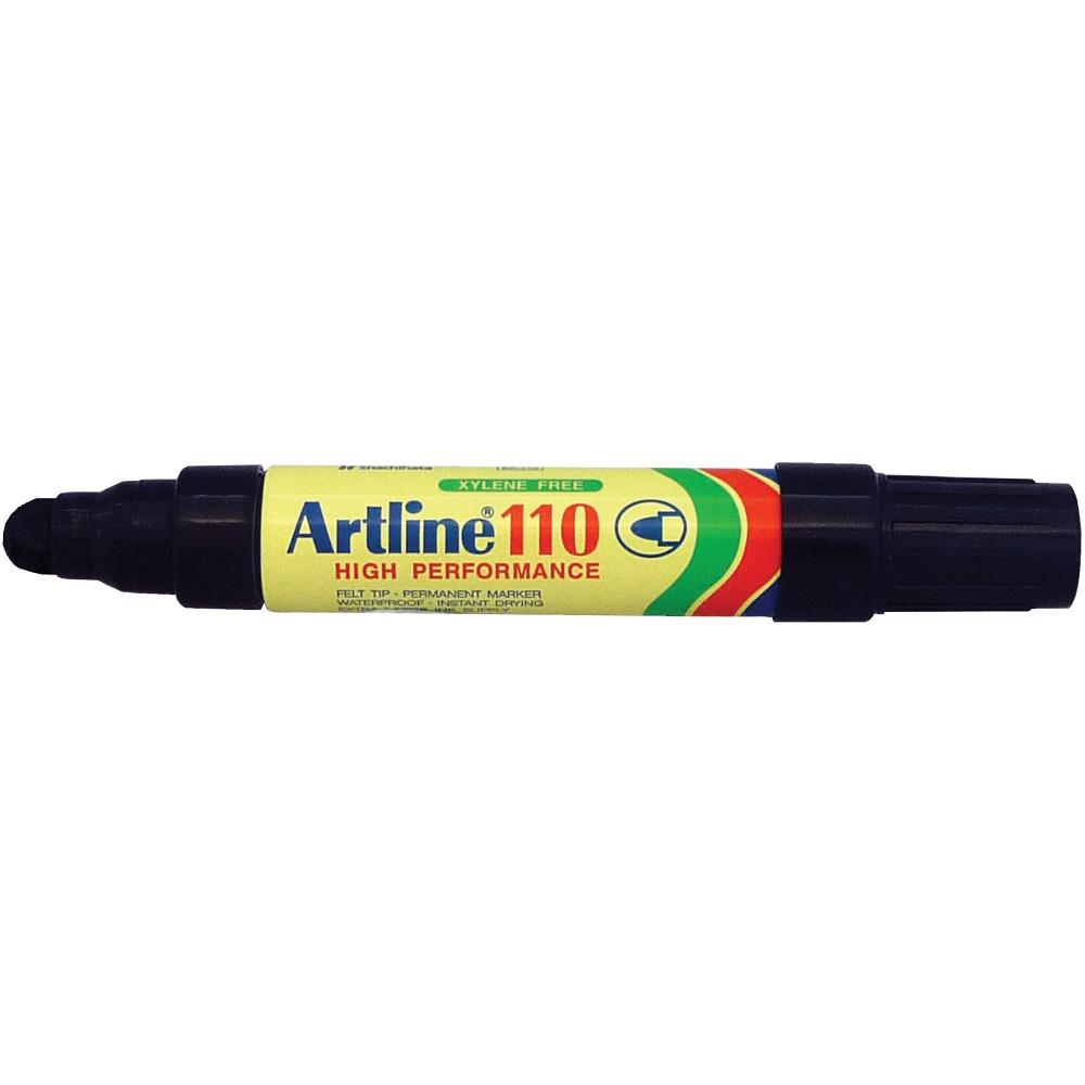 Artline 110 Permanent Marker Bullet 4mm Black