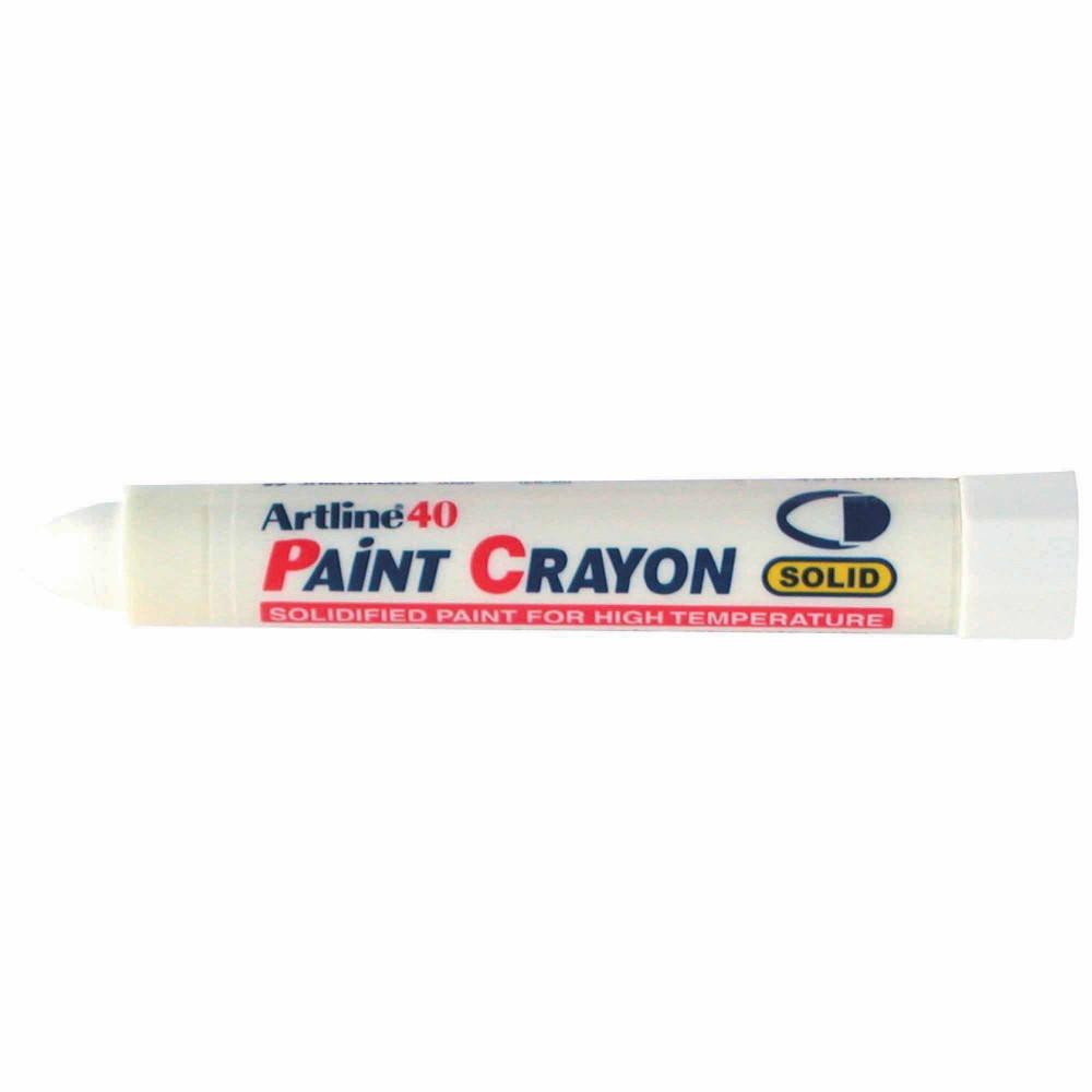 ARTLINE 40 PERMANENT PAINT Crayon Bullet White