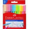 Faber-Castell Connector Marker Assorted Pastel Pack of 12