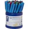 STAEDTLER STICK 430 PEN Ballpoint Medium Assorted Cup of 50