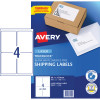 AVERY L7169 MAILING LABELS Laser 4UP 99.1x139mm Box of 100