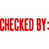 XSTAMPER -1 COLOUR -TITLES A-C 1048 Checked By Red