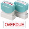 XSTAMPER STAMP CX-BN 1171 OVERDUE RED