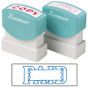 XSTAMPER STAMP CX-BN 1201 PAID/DATE BLUE