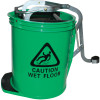 Cleanlink Heavy Duty Plastic Mop Bucket Metal Wringer 16L Green