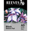 REEVES SKETCH PAD Black Paper A5 140GSM  20 Sheets