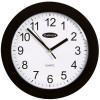 CARVEN WALL CLOCK 250mm Black Frame