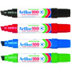 Artline 100 Jumbo Permanent Marker Chisel 12mm Assorted Pack Of 6