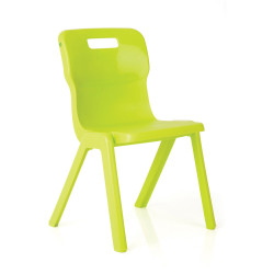 TITAN EDUCATION 4 LEG CHAIR 310mm High Lime