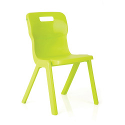 TITAN EDUCATION 4 LEG CHAIR  380mm High Lime