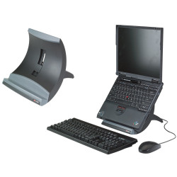 3M Notebook And Tablet Riser Vertical LX550 Black and Grey