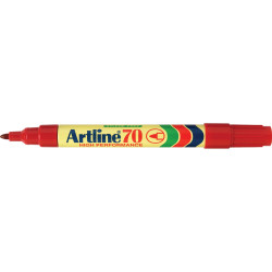 Artline 70 Permanent Marker Bullet 1.5mm Red