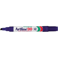Artline 90 Permanent Marker Chisel 2-5mm Blue