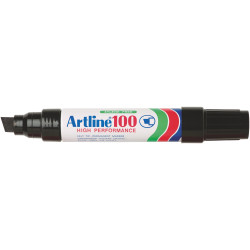Artline 100 Jumbo Permanent Marker Chisel 12mm Black