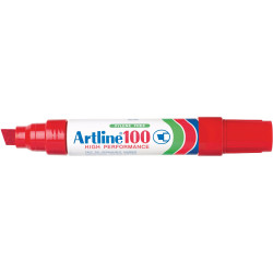 Artline 100 Jumbo Permanent Marker Chisel 12mm Red