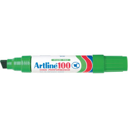 Artline 100 Jumbo Permanent Marker Chisel 12mm Green
