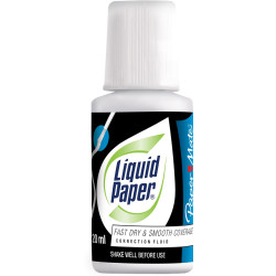 LIQUID PAPER CORRECTION FLUID Bond White 20ml