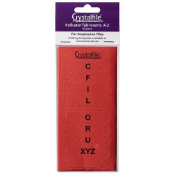 CRYSTALFILE TAB INSERTS A-Z Red Pack of 60