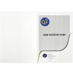 MARBIG PRESENTATION FOLDERS Pro Series A4 White Gloss Pack of 20