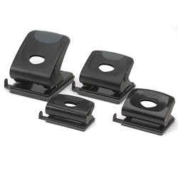 MARBIG 2 HOLE PUNCH Plastic Heavy Duty 35 Sheet Capacity Black