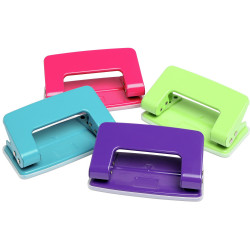 Marbig 2 Hole Punch 6 Sheet Capacity Summer Colours Assorted