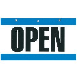 GEO COLOURED SIGNS Open/Closed 275x150mm Blu/Wht