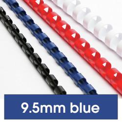 Rexel Plastic Binding Comb 10mm 65 Sheet Capacity Blue Pack of 100