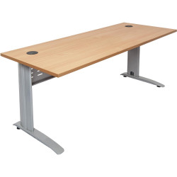 RAPID SPAN DESK W1500xH700mm Beech Top Silver Legs