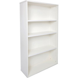 Rapid Span Melamine Bookcase 1200Hx900Wx315mmD 3 Adjustable Shelves All White