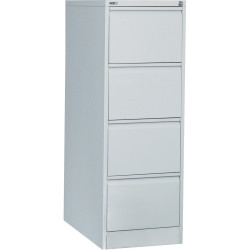 GO 4 DRAWER FILING CABINET H1321mm x W460mm x D620mm Silver Grey