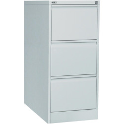 GO 3 DRAWER FILING CABINET H1016mm x W460mm x D620mm Silver Grey