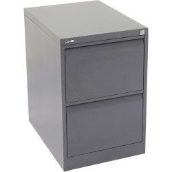 GO 2 DRAWER FILING CABINET H730mm x W460mm x D620mm Graph Ripple