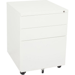 RAPIDLINE MOBILE PEDESTAL 3DR 2 Std 1 Filing White W450mm x D472mm x H610mm