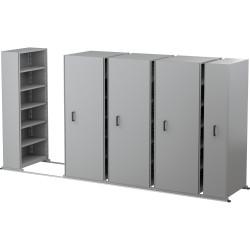 APC EZI-SLIDE AISLE SAVER UNIT 5 Shelves 4 Bay Silver Grey 2500L x 2175H x 900W x 400Dmm