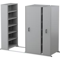 Apc Ezi-Slide Aisle Saver Unit 2500Lx2175Hx1200Wx400mmD 5 Shelves 4 Bay Silver Grey