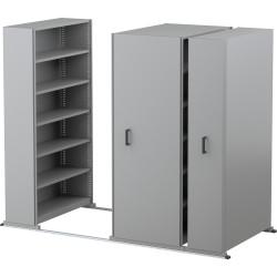 APC EZI-SLIDE AISLE SAVER UNIT 5 Shelves 8 Bay Silver Grey 4500L x 2175H x 900W x 400Dmm