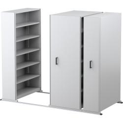 APC EZI-SLIDE AISLE SAVER UNIT 5 Shelves 8 Bay White 4500L x 2175H x 900W x 400Dmm