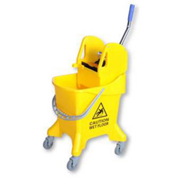 CLEANLINK MOP BUCKET Downward Press 31Litres Yellow