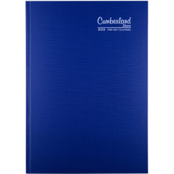 Cumberland Premium Diary Day To Page A4 Blue