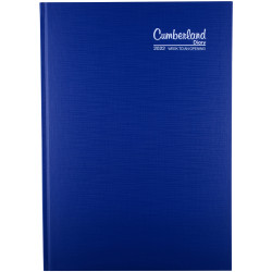 Cumberland Premium Diary Week To View A4 Blue