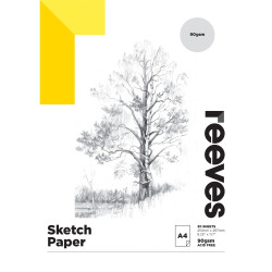 REEVES ARTIST SKETCH PAD A4 90GSM 30 Sheets