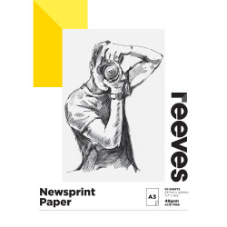 REEVES NEWSPRINT PAD A3 48GSM 50 Sheets