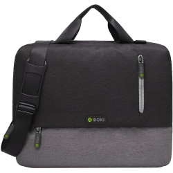 Moki Odyssey Satchel Fits up to 15.6 Inch Laptop Black / Grey