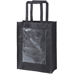 Zart Bag With Display Pocket With Handles Black Pack of 10