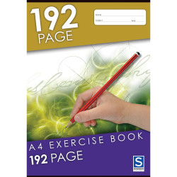 SOVEREIGN A4 EXERCISE BOOK 8MM Ruled 192 Page