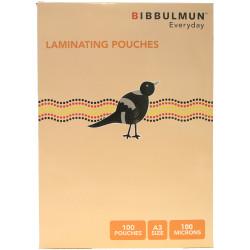 Bibbulmun Laminating Pouches A3 100 Micron Pack of 100