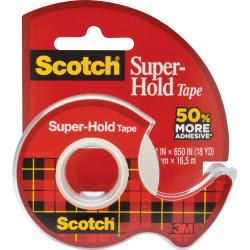 SCOTCH TAPE 198 Super Hold Dispenser Clear 19mm X 16.5m