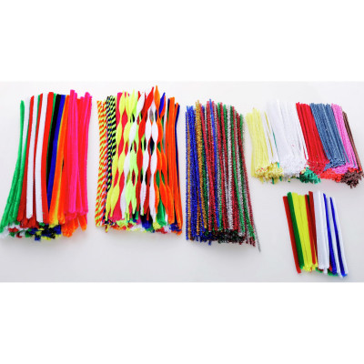 Jasart Pipe Cleaners 1.2cmx30cm Chenille Assorted Pack of 100