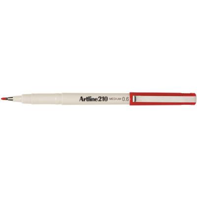 Artline 210 Fineliner Pen 0.6mm Red